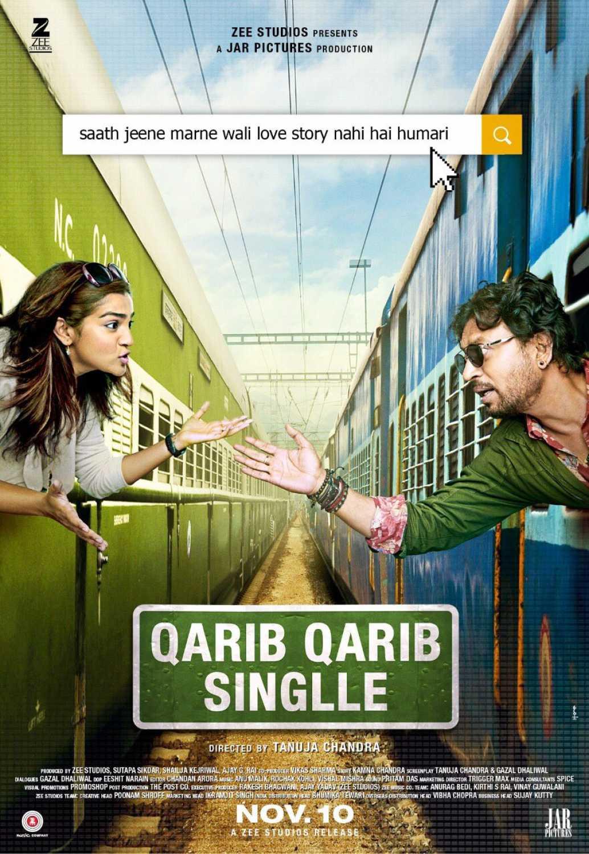 Image result for qarib qarib singlle poster