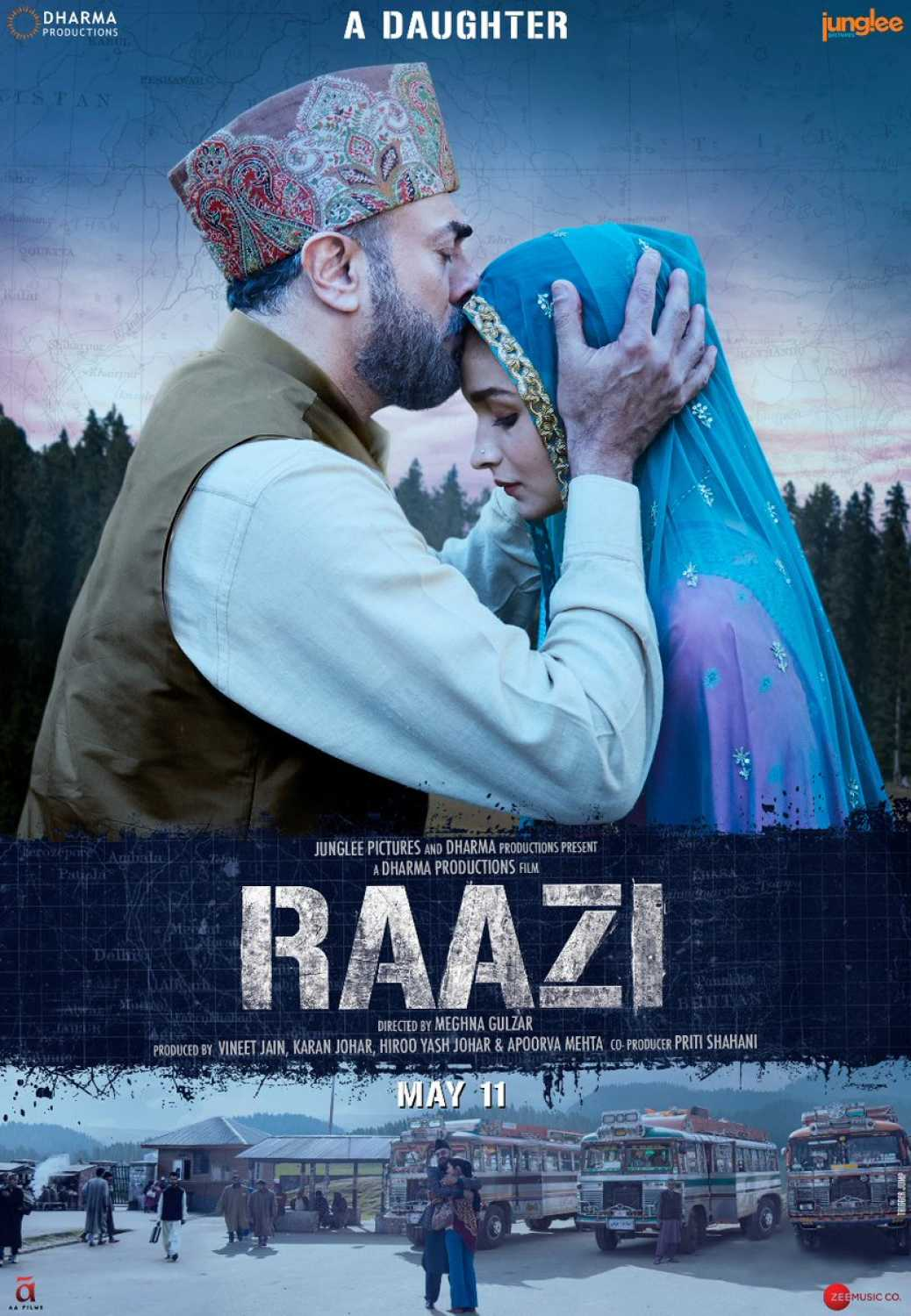 Raazi 2018 Hindi New PreDVDRip 700MB AAC MKV