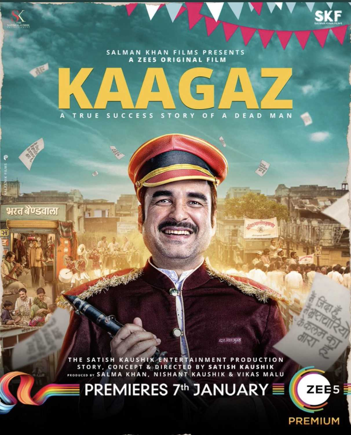Kaagaz (2021) Hindi Movie 480p Zee5 HDRip x264 300MB