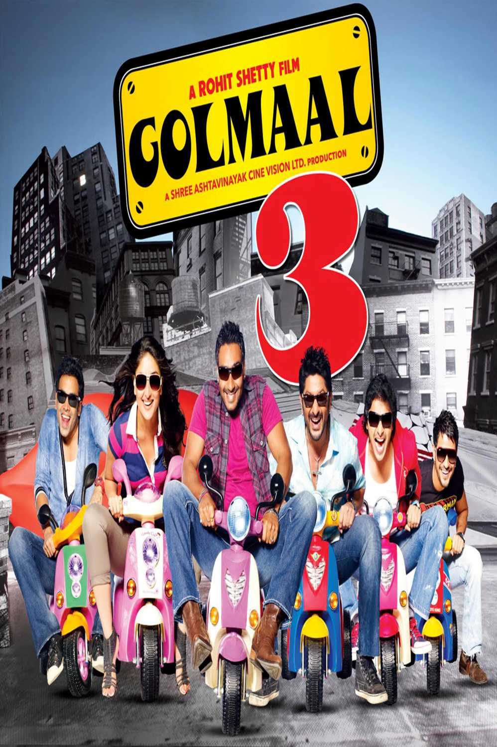 Golmaal 3 2010 1080p Hindi BluRay REMUX AVC DTS ESUBS KartiKing | G- Drive | 31 GB |