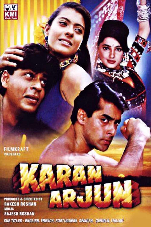 Karan arjun hindi movie film salman khan shahrukh