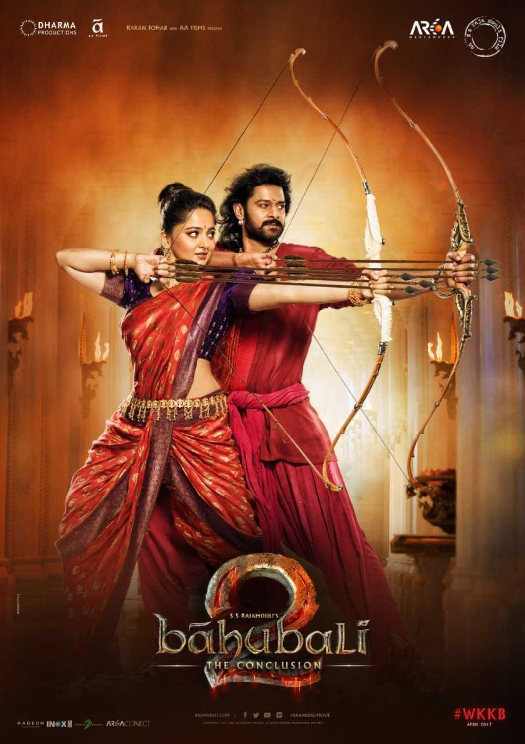 prabhas, anushka shetty on point in new bahubali: the conclusion posters