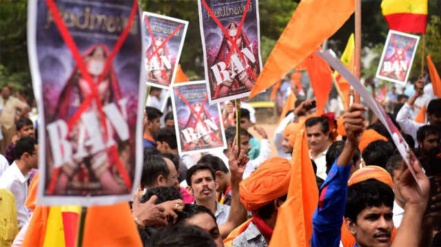 Karni Sena members held while protesting outside CBFC office