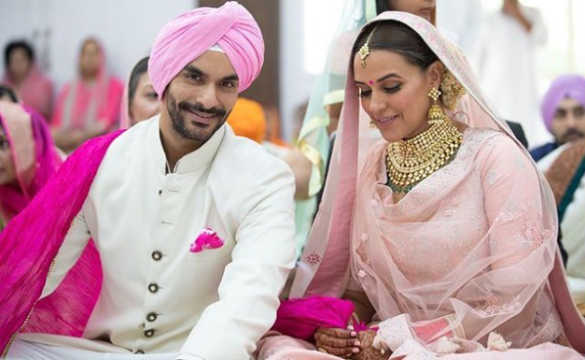 Here's what Neha Dhupia and Angad Bedi wore for their wedding ceremony
